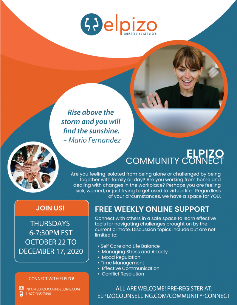 Elpizo Counselling - Community Connect Flyer